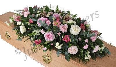 Pinks and Whites Casket Spray
