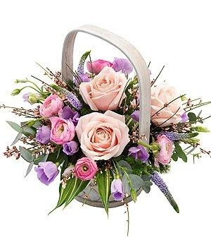 Pink and Mauve Basket